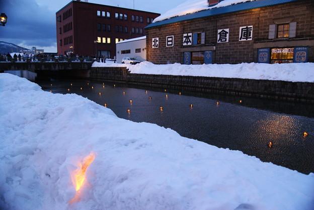雪あかり・小樽運河