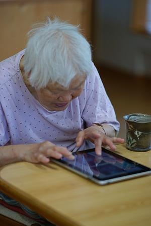 iPadとお年寄り