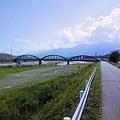 明神橋と天竜川