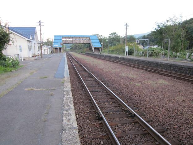 写真: 蘭島駅1