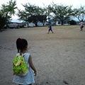 Photos: 公園で野球なう。おかんも打...