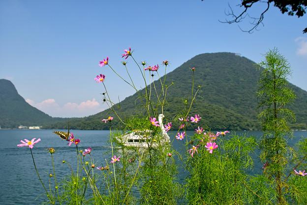 榛名湖の風景
