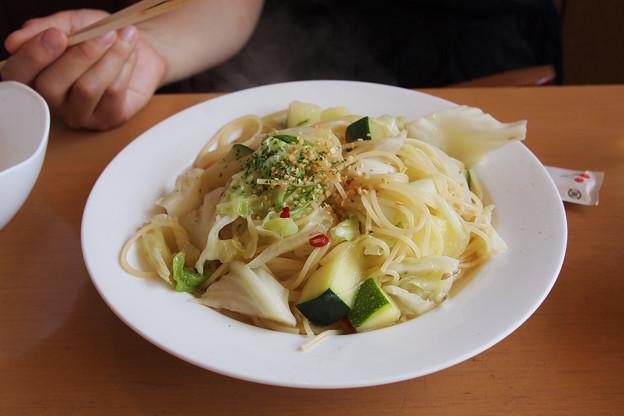 Photos: 夏野菜?のぺペロンチーノ
