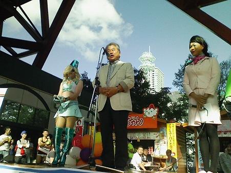上田市長が来た。