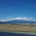 お帰りは富士山を撮って