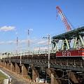利根川を渡る安中貨物