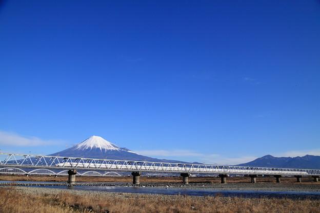 Photos: 新幹線N700系と富士