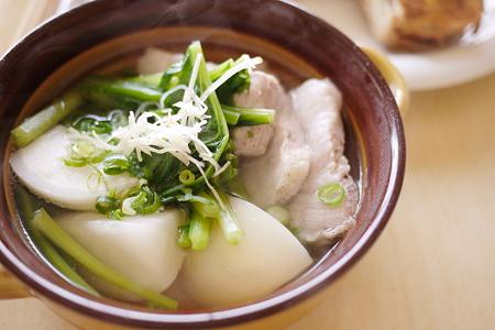 塩豚とカブのスープ