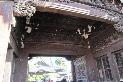題経寺の二天門