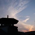 本宿駅の夕暮れ