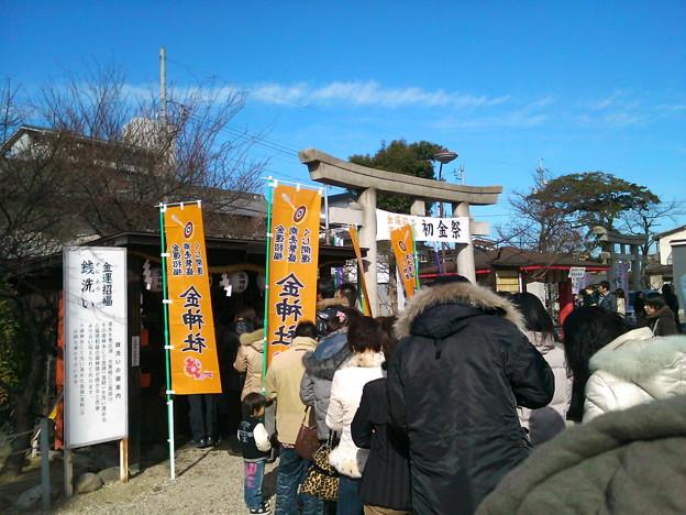 金神社行列…