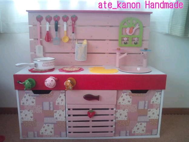 キッチン ままごとキッチン カラーボックス : 花音のままごとキッチン - 写真 ...