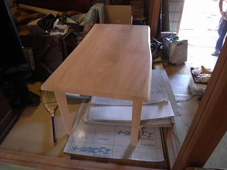 ダイニングテーブル塗装前