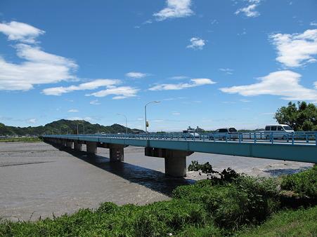 台風一過の安倍川