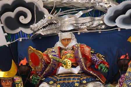 03 2014年 博多祇園山笠 飾り山笠 風雲龍謙信決戦 東流 (11)