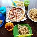 写真: 夏のある日のお昼ご飯