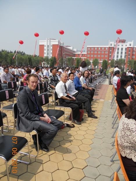 外国人講師(一部)式典に出席