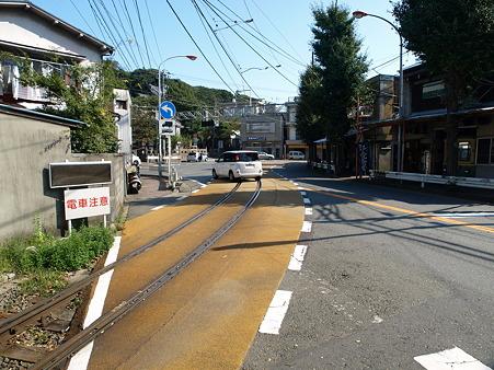 江ノ島→腰越の併用軌道区間2