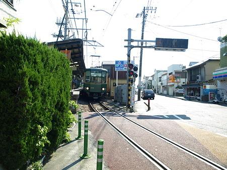 江ノ島→腰越の併用軌道区間34