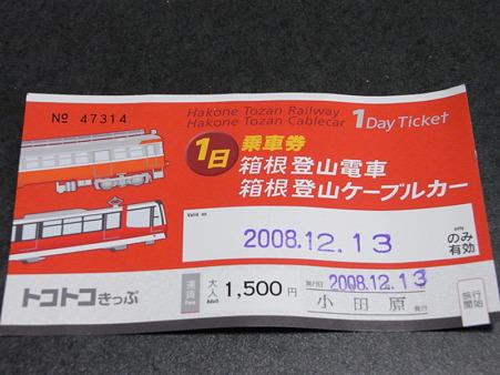 箱根登山電車トコトコきっぷ