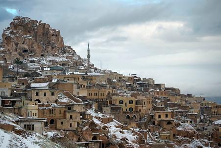 2011.01.26 トルコ カッパドキア 雪のウチヒサール