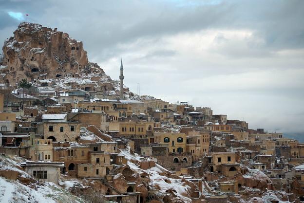 Photos: 2011.01.26 トルコ カッパドキア 雪のウチヒサール
