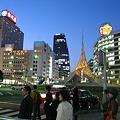 Photos: 日没直後の駅前