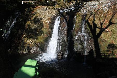 竜神の滝とカエル