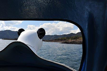 パンダのペダルボート-本栖湖上にて-