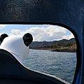 写真: パンダのペダルボート-本栖湖上にて-