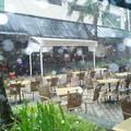 ペナン スコールを写真に・・雨粒が白く