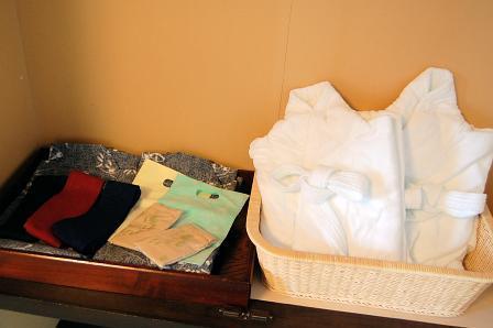 浴衣、バスローブ、足袋