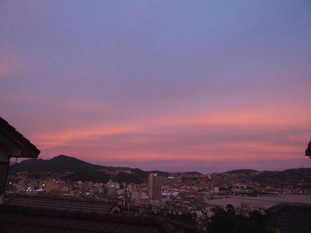 夕焼け 東の空 3
