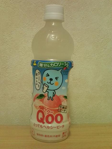 写真: 【桃汁】Qoo とってもヘルシーピーチ