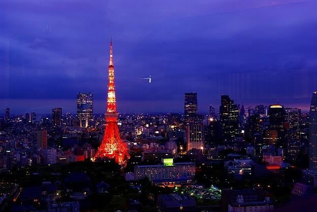 東京タワー六本木ヒルズ方面