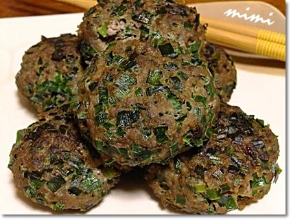 ニラと挽肉のお焼き