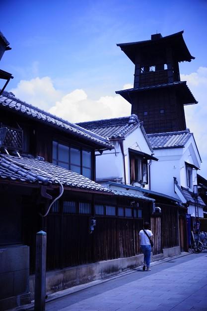 ブルートイ風 蔵造の町並み時の鐘・・20120624
