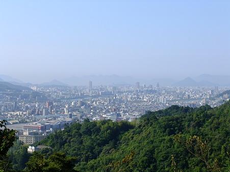 カガラ山山頂から望む広島市街と広島湾