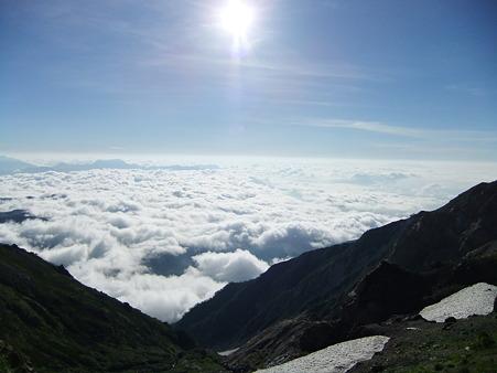 雲海と太陽