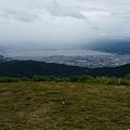 諏訪湖が見えた・頂上