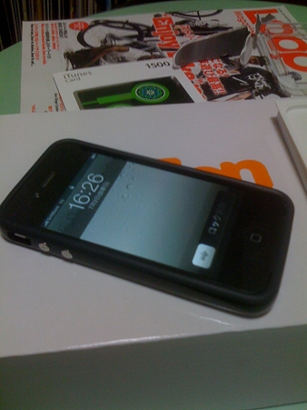 iPhone4バンパー電源ON